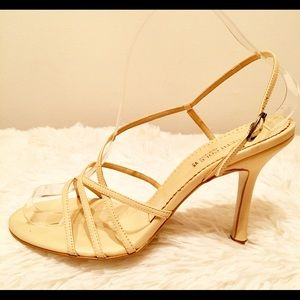 Kenneth Cole Cream Sling back Strappy Heels 8M